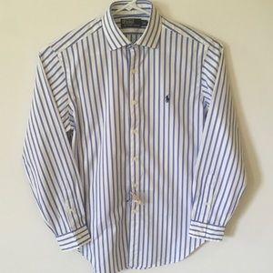 Polo Ralph Lauren Blue Striped Dress Shirt Medium
